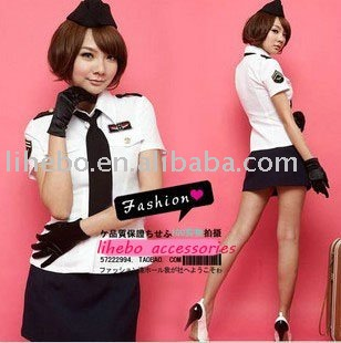include five,Office lady sexy female police uniforms flight attendants uniforms temptation of service,free shipping
