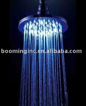 1pc/lot BRASS LED RAIN SHOWER,100% guarentee,1 year Warranty,free shipping (YS-LED1958-6)(China (Mainland))