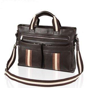 On sale! 2011 wholesale GENUINE LEATHER SHOULDER/CROSSBODY/TOTE MEN'S HANDBAG LAPTOP BAG briefcase brown free shipping