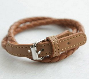 PU Leather Bracelet Jewelry,Chain Bracelet,Leather Knited Bracelet Chain Jewellery,30pcs/lot(China (Mainland))