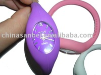 Free shipping Christmas Colour Fashion Anion Sport silica gel Quartz WRISTWATCH