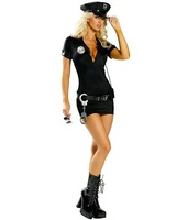 Naughty Officer Costume Dress sexy cop costume police costumes Halloween Party costume cosplay 2004