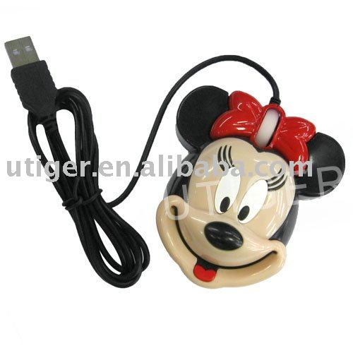 100pcs/lot! Micky Mouse USB Optical Scroll Wheel Mouse(Hong Kong)