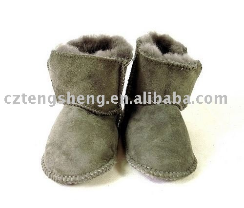 Free shipping (minimum:1 piece) guaranteed 100% genuine leather ,wool baby boots, wholesale and retail boots 5202(China (Mainland))