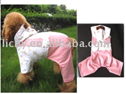 wholesale pets baby clothes,dog waistcoat,pet garments,male dog jeans,doggy wear,pink cute skirt,stripe strap dress,lyc1434(China (Mainland))