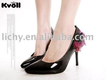Black high heel shoes,Kvoll night dress shoe,Newly high heel sandal,Fashion shoe high-heeled shoe,lyc2663
