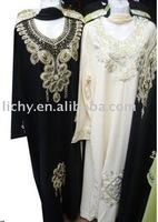 2010 the newest style thobe,arabic wear,woman islamic clothing,islanic abaya ,lyd915
