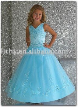 Flower Girl's Gown , Flower Childern's Gown ,  Popular Flower Girl Dress lya8536