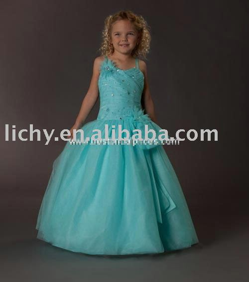Fashion Flower Girl Dress , Designer Flower Girl Dress , Flower Girl Gown lya8245(China (Mainland))