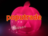 Wholesale Halloween Colorful LED light Pumpkin 100pcs/lot