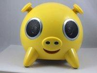 Wholesale--8pcs/panda pig dog tiger mp3 PD-001 speaker/usb speaker/mp4 speaker for ipod, iphone 3G + free shipping