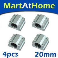 4pcs/lot Brand New SCS20UU 20mm Linear Motion Ball Slide Units Free Shipping #SM006 @CF
