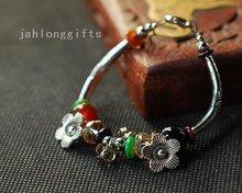 Wholesale Tibetan Bracelet Fashion Jewelry w/ Agate & Crystal Shell Decor 30pcs Mixed Lot Free Shipping(China (Mainland))