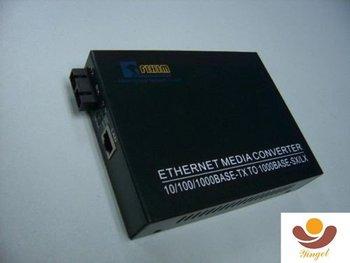 10/100/1000M Gigabit fiber media converter SM 1310 40Km