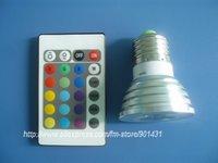 E27 3W 110-Lumen 6500K RGB Multicolored IR Remote Control Light Bulb (AC 85~245V)