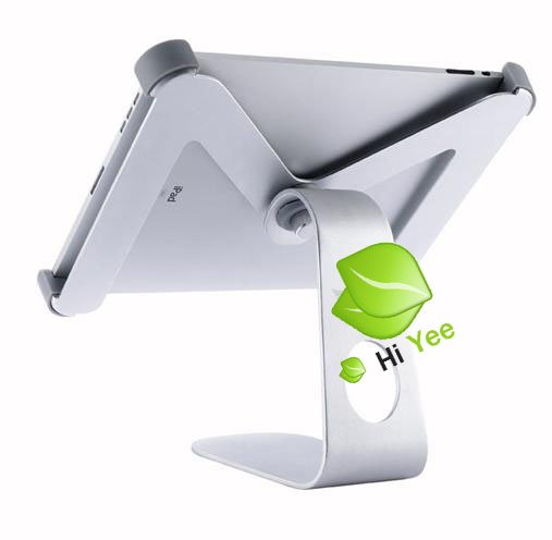 360 degree rotation Stand For iPad wifi/3G,adjustable angle holder for ipad,aluminum alloy stand for ipad Free shipping(China (Mainland))