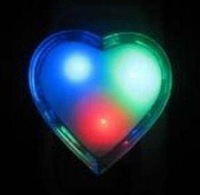 90pcs New Romantic Heart Shape Colorful LED Small Night Light Lamp+Gift & Free Shipping