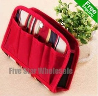For Promotion/Accept Credit Card/New Multi-Function Red Make Up Storage Bag Organizer