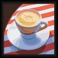 Coffee Break Oil Painting DIY Paint by Numbers 30x30cm (12x12'') PBN RH3001