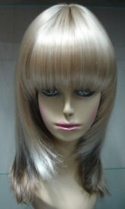 NEW CHARMING LIGHT BLONDE BROWN MIX MEDIUM WIGS Free shipping(China (Mainland))