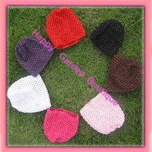 Free Shipping!24pcs/lot New 6'' Baby waffle crochet beanies knit waffle beanies can mix order(China (Mainland))