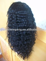 """No shedding No tangle Indian remy hair curl 16""""  #1 full lace wig whole"""