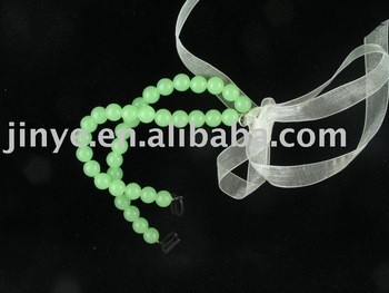 jelly beads bra strap