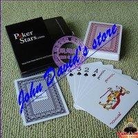 100% Genuine Plastic Poker Card POKER Stars.com (Red Edition / Blue Version) Free shipping