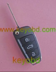 No.A audi A6 style Blank Remote work with our Remote master To copy RF remote,use in home alarm, garage door, control duplicator(China (Mainland))