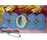 Blue Set of 10pcs Scented Tealight Candles for Wedding Halloween Christmas party ,100 sets/lot,free shipping