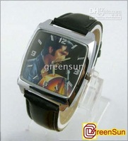 5pcs Fashion Elvis Presley Quartz Watches ZM Sports Leather Wristwatch GU016 free shipping