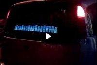 CB021 EL car sticker/EL equalizer/ EL panel/ Sound music Activated Car Stickers/ Equalizer glow EL light FREE SHIPPING 70*16cm