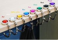 WHOLESALE FREE SHIPPING BRAND NEW 200pcs  ONE FOLDING HAND BAG PURSE HOOK HANGER HOLDER can fold MIX ORDER Family essential