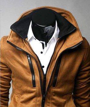 FREE SHIPPING 2010 100% New Korea Style fashion men's Shitsuke Double collar jacket