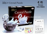 3pcs/lot gift Toys crystal 3D puzzles, White swan or apple jigsaw three-dimensional crystal puzzle Development wisdom