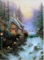 Thomas Kinkade modern oil paintings Guaranteed 100% Free shipping 038