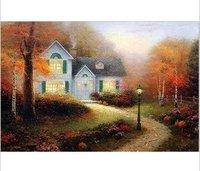 Thomas Kinkade modern oil paintings Guaranteed 100% Free shipping 050