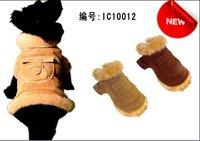 30pcs/lots dog clothes wholesale/ dog coat, dog clothing, Aristocratic rabbit fur coat thickening /pet cotton jacket/ IC10012