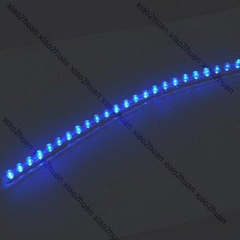 D19+Lot 20pcs ! 24cm Flexible Car Strip Light Waterproof 24 LED Blue   Free Shipping