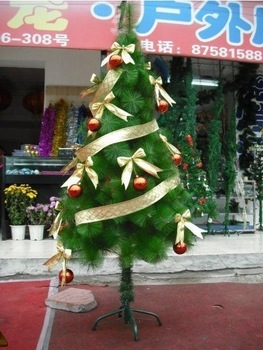 New 90CM meteor light Christmas tree giving free gift holiday lamp,color ribbon etc