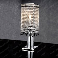 crystal table lamp/ modern crystal desk light/ K9 Crystal+steel/ D250*H550mm+WHOLESALE OR RETAIL+free shipping