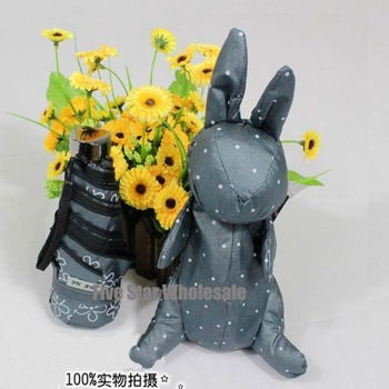 Girl's Gift/Free Shipping/Accept Credit Card/New Novelty Fashion Cute Rabbit Bunny Folding Sun Umbrella