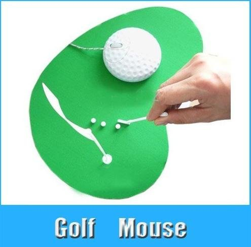 10set/lot golf optical mouse set. Christmas gifts.Mini Golf Course (mouse pads, golf balls, clubs, flags)free shipping(China (Mainland))