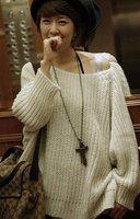 Women's hot selling white 2010 knit sweater free shipping