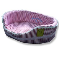 Red and White Stripes Lace Pet Bed ,Large,Free Shipping! 101900