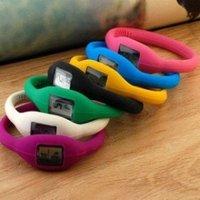 100pcs/lot Fashion Wrist sport Watch 1ATM waterproof anion silicone watch