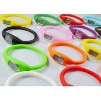 100pcs/lot Fashion Wrist sport Watch 1ATM waterproof silicone watch