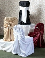 white satin universal chair cover wholesale price