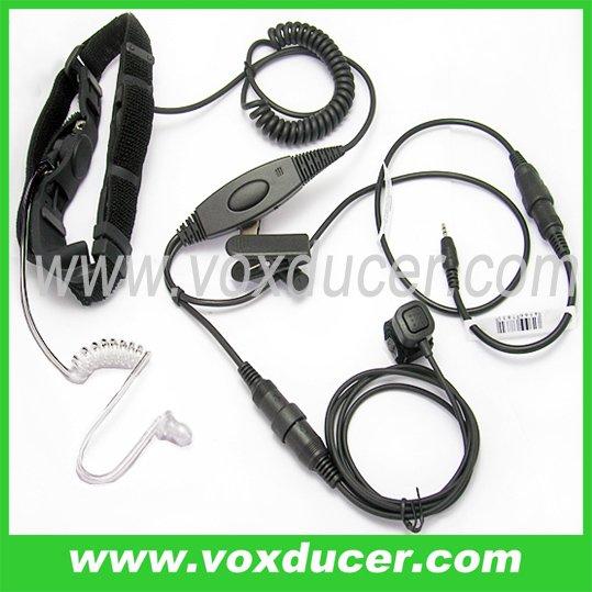 Detachable throat mic with Mini-din Plug for Cobra transceiver PR240 PR245 PR350 PR375 PR550(China (Mainland))