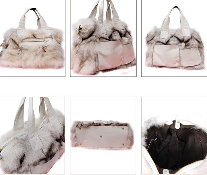 free shipping -fashion fox fur bag,Ladies dorothy bag ,fur shoulder bags ,japan's fashion design ,top quality(China (Mainland))